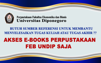 Access E-Books at the Library of the Faculty of Economics and Business, Diponegoro University