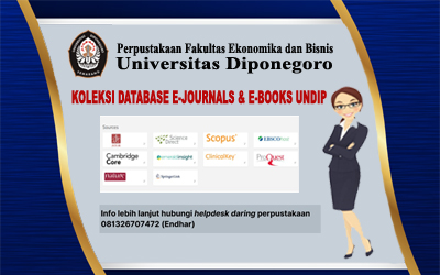 E-Journals and E-Books Subscribed by Diponegoro University